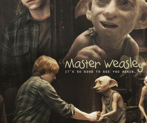 harry potter, dobby, and ron weasley image