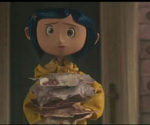 blue, coraline, and hair image
