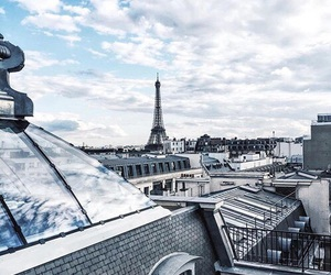 blue, paris, and city image