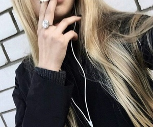 cigarette, girl, and grunge image