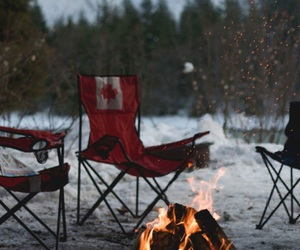 fire, canada, and snow image