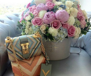 flowers, Valentino, and fleurs image