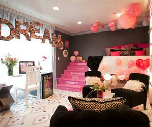 Dream, room, and pink image