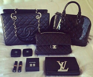 black, bag, and chanel image
