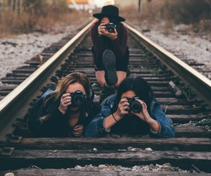 cameras, friendship, and photography image