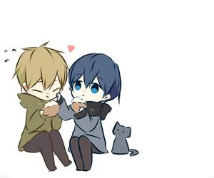 free!, cat, and makoto image