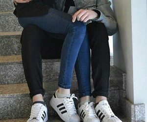 adidas, couple, and boy image