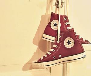 chuck taylor, converse, and red image