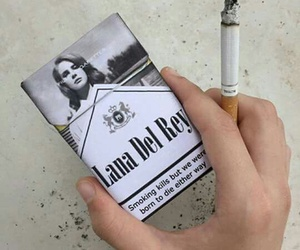 cigarette, lana del rey, and smoke image