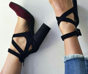 block, shoes, and heels image