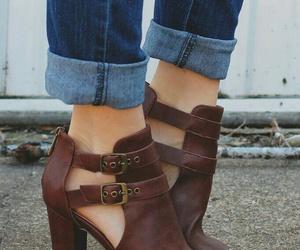 block, heels, and peep toe image
