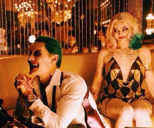 suicide squad, harley quinn, and joker image