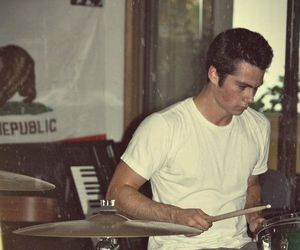 dylan o'brien, teen wolf, and drums image