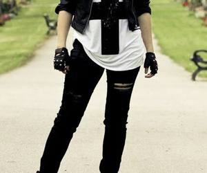 style, black, and rock image