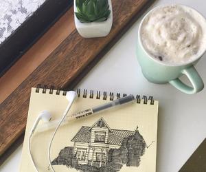 art, painting, and cream image