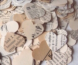 hearts, beige, and music image