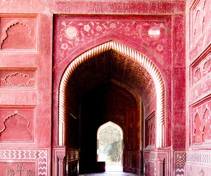 travel, pink, and red image