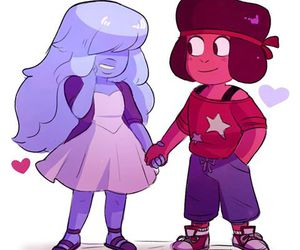 ruby, sapphire, and steven universe image