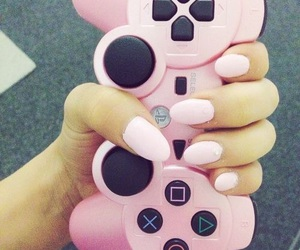 pink, nails, and game image