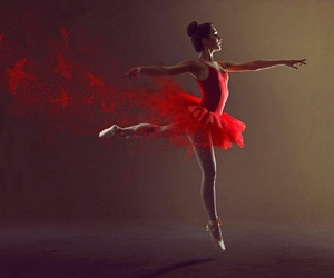 dance, red, and ballet image