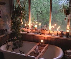 candle, bathroom, and bath image