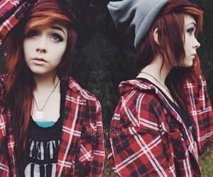 girl, hair, and emo image