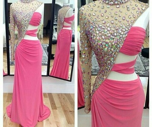 diamonds, pink, and dress image