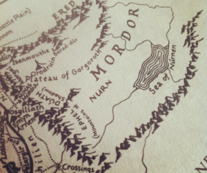 map, mordor, and lord of the rings image