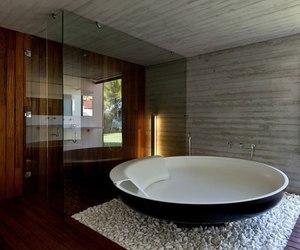 bathroom, bath, and house image