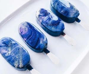 food, ice cream, and galaxy image