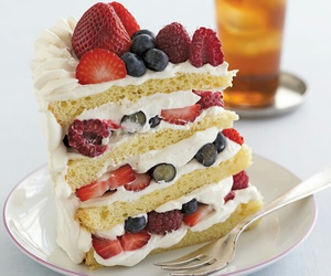 cake, desserts, and FRUiTS image