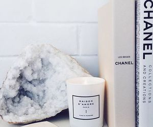 chanel, book, and white image