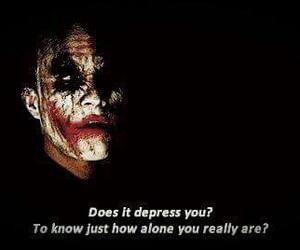 joker, alone, and depression image
