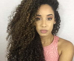 beautiful, biracial, and side part image