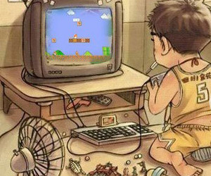 childhood and super mario image