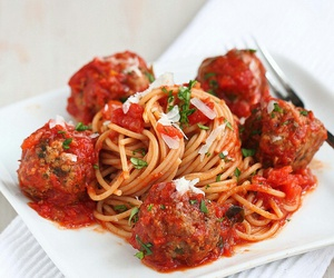 food, love, and meatballs image