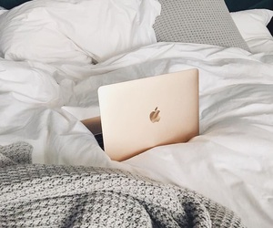 apple, bed, and gold image