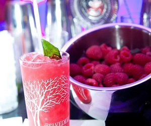 cocktail, fruit, and pink image
