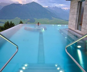 pool, blue, and luxury image