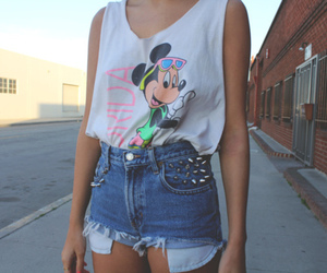 fashion, shorts, and mickey image