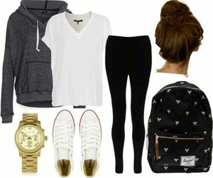 outfit, clothes, and converse image
