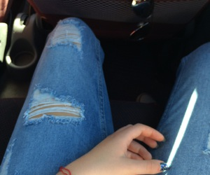 blue, car, and jeans image