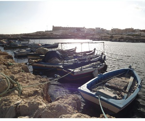 boat, sea, and tunisie image