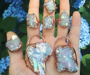crystal, girl, and jewelry image