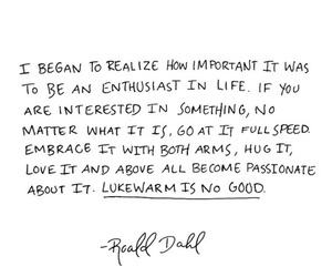quote and Roald Dahl image