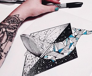 whale, art, and tattoo image