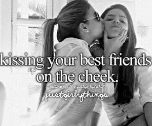 kiss, friends, and best friends image