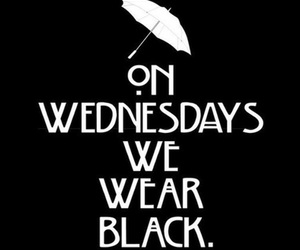 wednesday, american horror story, and black image