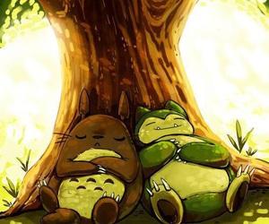 ghibli, pokemon, and totoro image