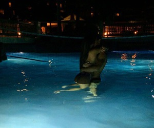 couple, pool, and Relationship image